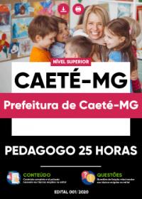 Pedagogo 25 horas - Prefeitura de Caeté-MG