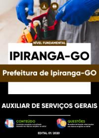 Auxiliar de Serviços Gerais - Prefeitura de Ipiranga-GO