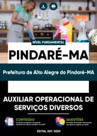 Auxiliar Operacional de Serv. Diversos - Prefeitura de Alto Alegre do Pindaré-MA