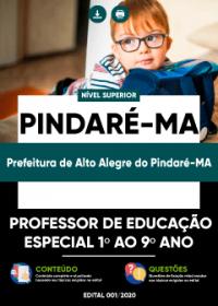 Professor de Educação Especial 1º ao 9º ano - Pref. de Alto Alegre do Pindaré-MA