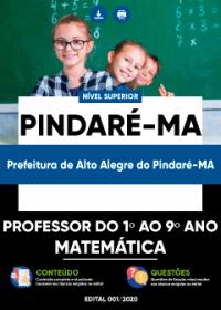 Professor do 1º ao 9º ano (Matemática) - Prefeitura de Alto Alegre do Pindaré-MA