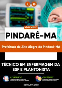 Técnico em Enfermagem ESF- Plantonista - Prefeitura de Alto Alegre do Pindaré-MA