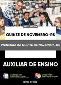 Auxiliar de Ensino - Prefeitura de Quinze de Novembro-RS