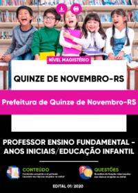 Professor Ensino Fundamental - Prefeitura de Quinze de Novembro-RS