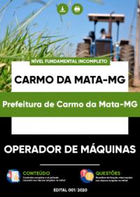 Operador de Máquinas - Prefeitura de Carmo da Mata-MG
