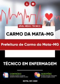 Técnico em Enfermagem - Prefeitura de Carmo da Mata-MG