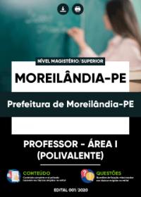 Professor - Área I (Polivalente) - Prefeitura de Moreilândia-PE