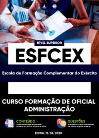 Curso Formação de Oficial - Administração - EsFCEx