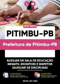 Auxiliar de Sala - Educação Infantil e Inspetor - Prefeitura de Pitimbu-PB