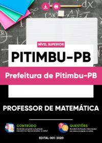 Professor de Matemática - Prefeitura de Pitimbu-PB