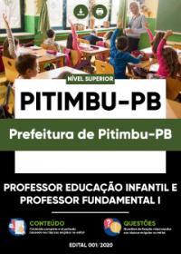 Professor Educação Infantil e Professor Fundamental I - Prefeitura de Pitimbu-PB