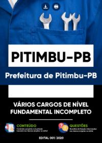 Vários Cargos de Nível Fundamental Incompleto - Prefeitura de Pitimbu-PB