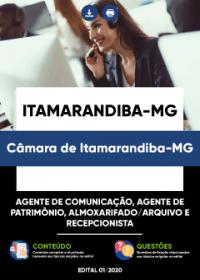 Agente de Comunicação, Agente de Patrimônio e outros - Câmara de Itamarandiba-MG