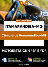 Motorista CNH B e D - Câmara de Itamarandiba-MG