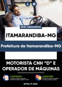 Motorista CNH D e Operador de Máquinas - Prefeitura de Itamarandiba-MG
