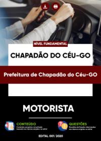 Motorista - Prefeitura de Chapadão do Céu-GO