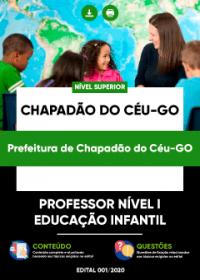 Professor Nível I - Educação Infantil - Prefeitura de Chapadão do Céu-GO