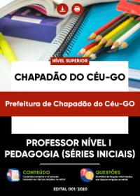 Professor Nível I - Pedagogia - Prefeitura de Chapadão do Céu-GO