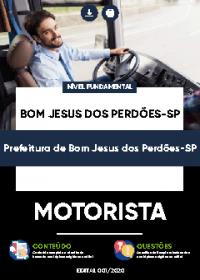 Motorista - Prefeitura de Bom Jesus dos Perdões-SP