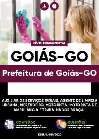 Auxiliar de Serviços Gerais e outros - Prefeitura de Goiás-GO