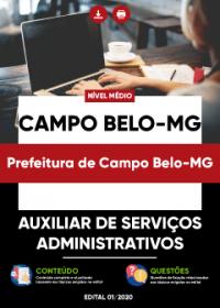 Auxiliar de Serviços Administrativos - Prefeitura de Campo Belo-MG