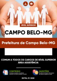 Comum aos cargos de Nível Superior - Assistência - Prefeitura de Campo Belo-MG