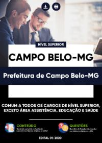 Comum a todos os cargos de Nível Superior - Prefeitura de Campo Belo-MG