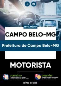 Motorista - Prefeitura de Campo Belo-MG
