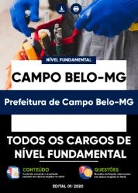 Todos os Cargos de Nível Fundamental - Prefeitura de Campo Belo-MG