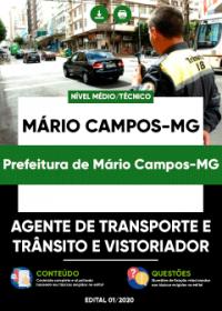 Agente de Transporte e Trânsito e Vistoriador - Prefeitura de Mário Campos-MG