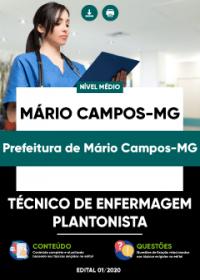 Técnico de Enfermagem Plantonista - Prefeitura de Mário Campos-MG
