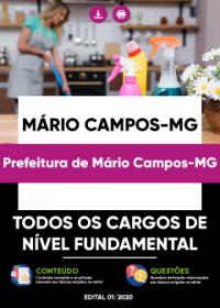 Todos os Cargos de Nível Fundamental - Prefeitura de Mário Campos-MG
