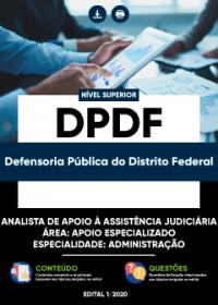 Analista de Apoio à Assistência Judiciária - Especialidade: Administração - DPDF