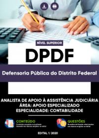 Analista de Apoio à Assistência Judiciária - Especialidade: Contabilidade - DPDF
