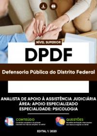 Analista de Apoio à Assistência Judiciária - Especialidade: Psicologia - DPDF