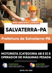 Motorista AB e D e Operador de Máquinas Pesada - Prefeitura de Salvaterra-PA