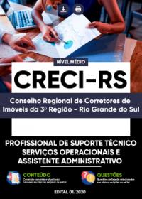 Profissional de Suporte Técnico - Serviços Operacionais e Assistente - CRECI-RS
