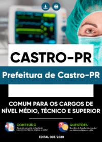 Comum aos Cargos de Nível Médio, Técnico e Superior - Prefeitura de Castro-PR