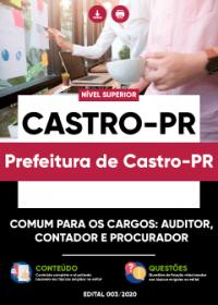 Comum aos Cargos: Auditor, Contador e Procurador - Prefeitura de Castro-PR