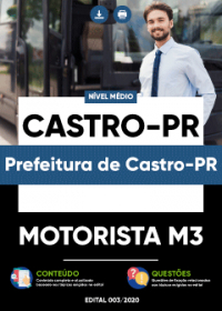 Motorista M3 - Prefeitura de Castro-PR