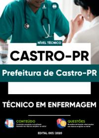Técnico em Enfermagem - Prefeitura de Castro-PR