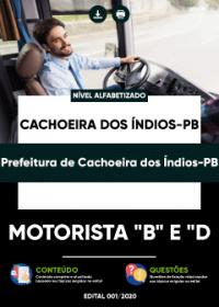 Motorista B e D - Prefeitura de Cachoeira dos Índios-PB