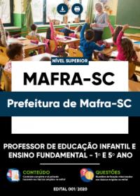 Prof. de Educ. Infantil e Ensino Fundamental - 1º e 5º ano - Pref. de Mafra-SC