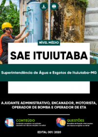 Ajudante Administrativo, Encanador e outros - SAE Ituiutaba