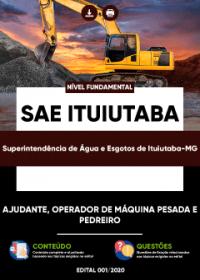 Ajudante, Operador de Máquina Pesada e Pedreiro - SAE Ituiutaba