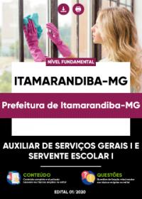 Auxiliar de Serviços Gerais I e Servente Escolar I - Pref. de Itamarandiba-MG