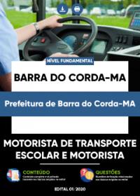 Motorista de Transporte Escolar e Motorista - Prefeitura de Barra do Corda-MA