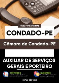 Auxiliar de Serviços Gerais e Porteiro - Câmara de Condado-PE