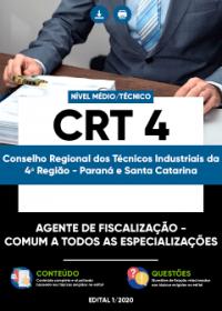 Agente de Fiscalização - Comum a todos as Especializações - CRT 4