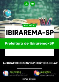 Auxiliar de Desenvolvimento Escolar - Prefeitura de Ibirarema-SP